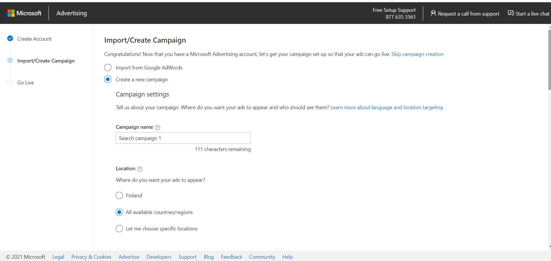 Microsoft Advertising luo kampanja